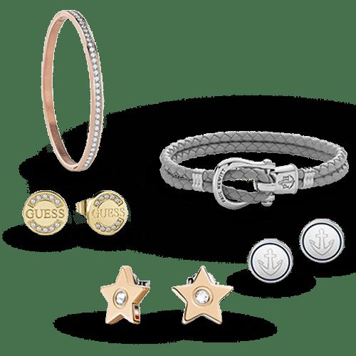 Găsiți cele mai frumoase bijuterii pentru bărbați și femei - cercei, coliere, brățări, butoni manșetă